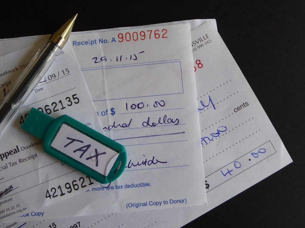 tax receipts and bas